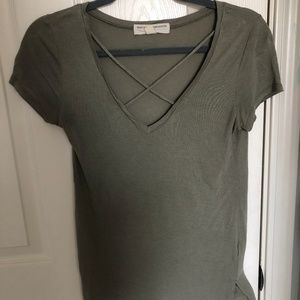 Urban Outfitters Army Green Tee